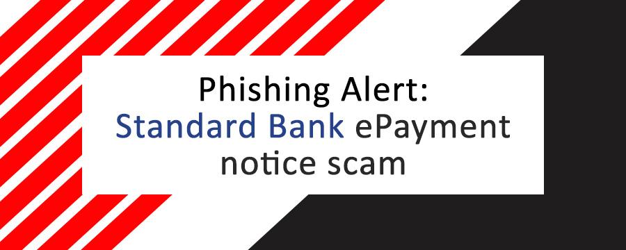 Digiworks knowledgebase Standard bank epayment scam cover