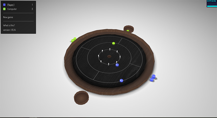 Crokinole by Gabor Meszaros is one of our favourite Chrome Experiments online games